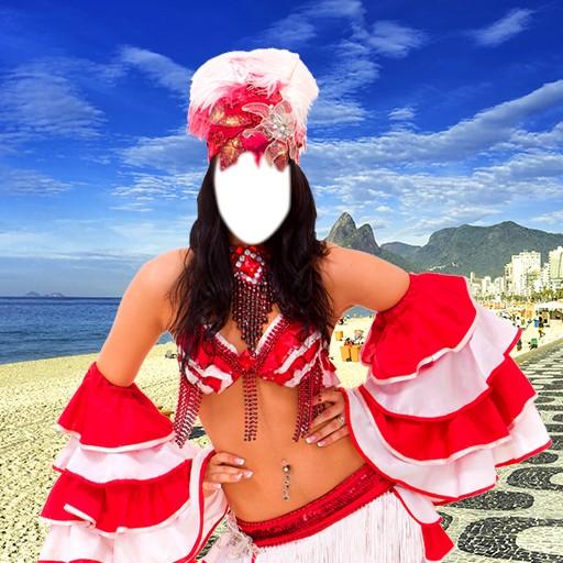 Woman Carnival Photo Montage