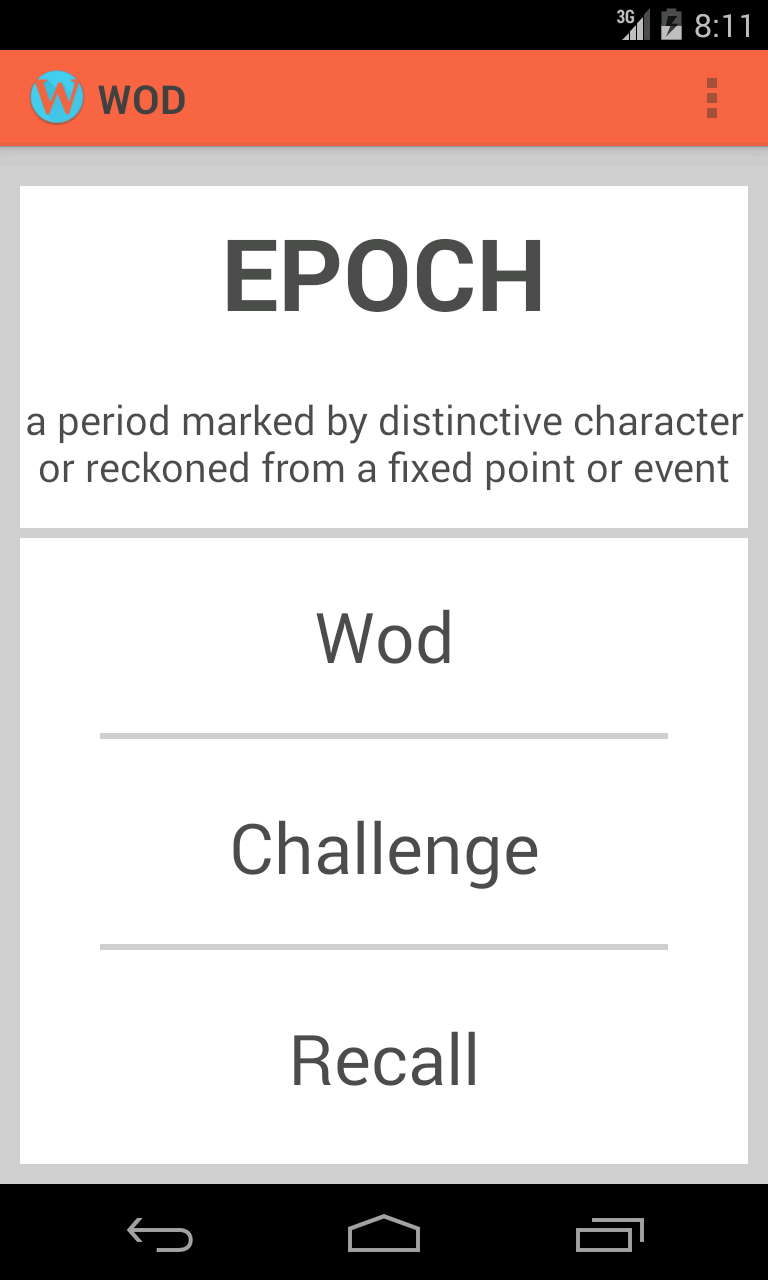 Word of the day (WOD)