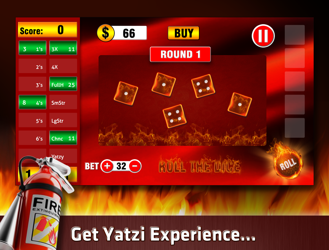 Yatzy On Fire