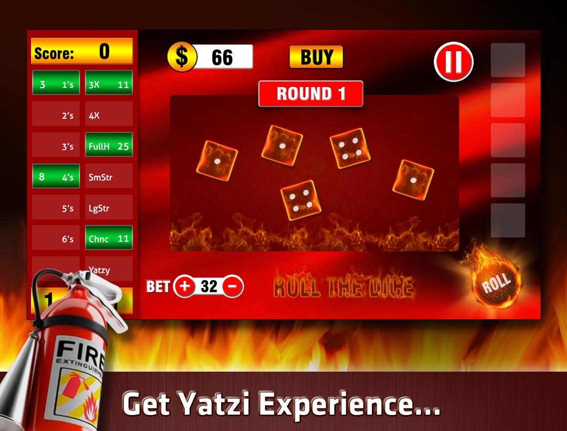 Yatzy On Fire