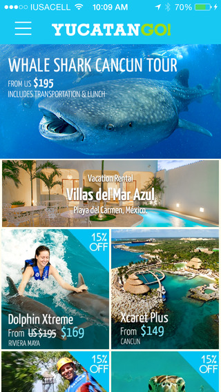 Yucatan GO! - Easily Find & Book Things to Do In Cancun. Cancun Tours & Cancun Offline Maps.