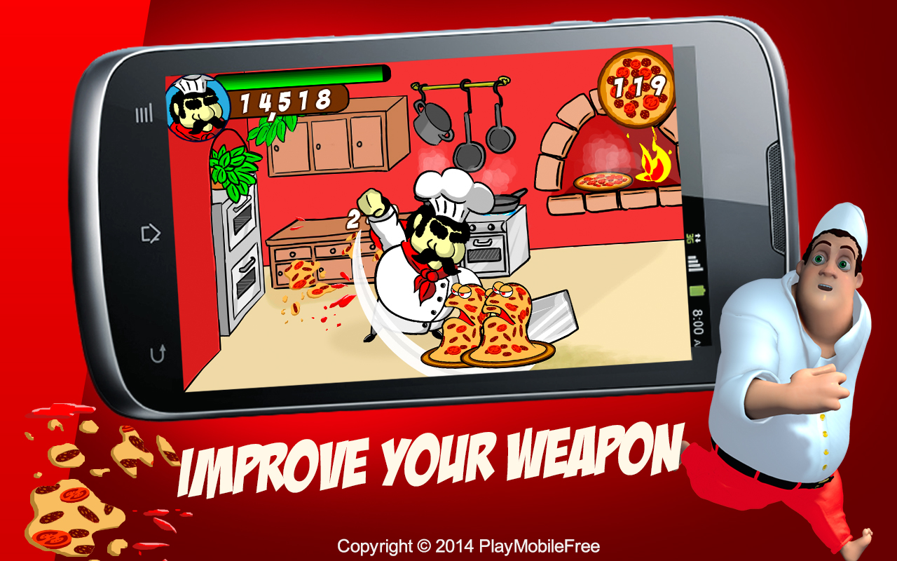 Zombie Pizza Fighting