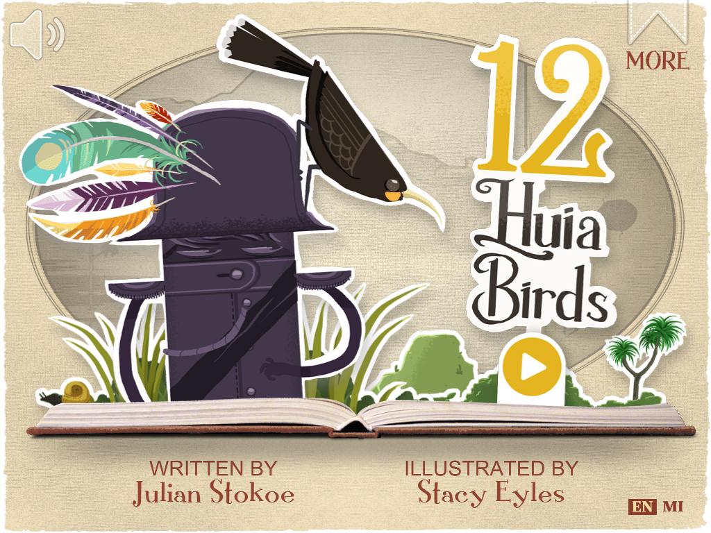 12 Huia Birds