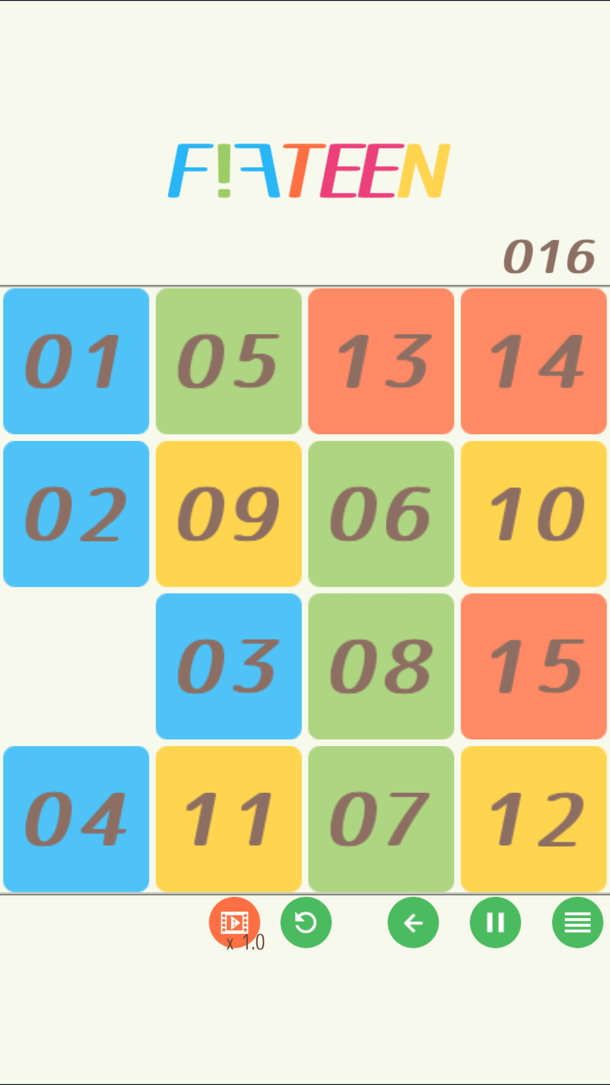 15 puzzle - FIFTEEN -