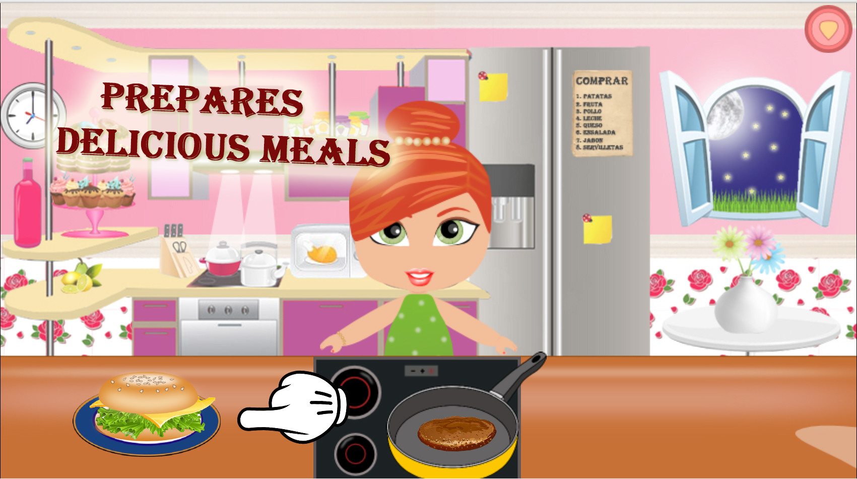 Cooking Food Princess Girl