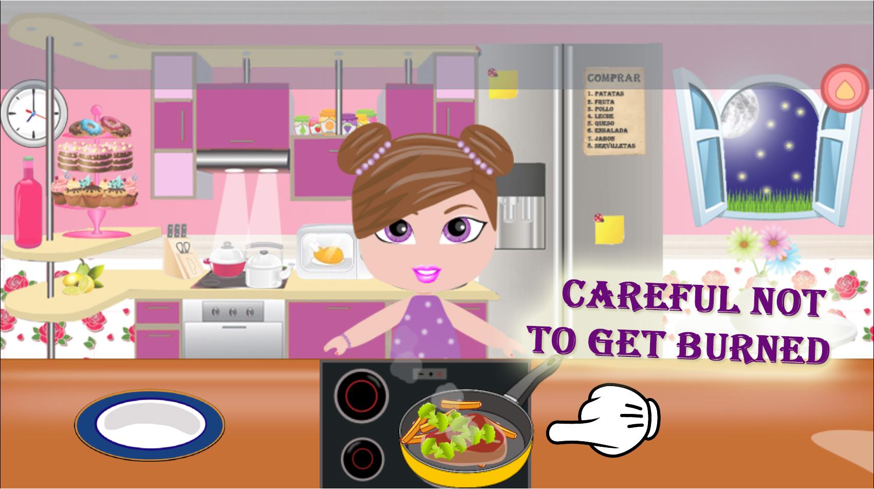 Cooking Food Princess Girl
