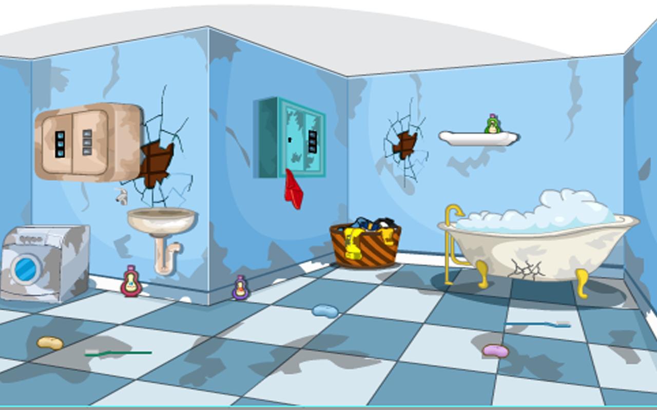Escape Game-Messy Bathroom