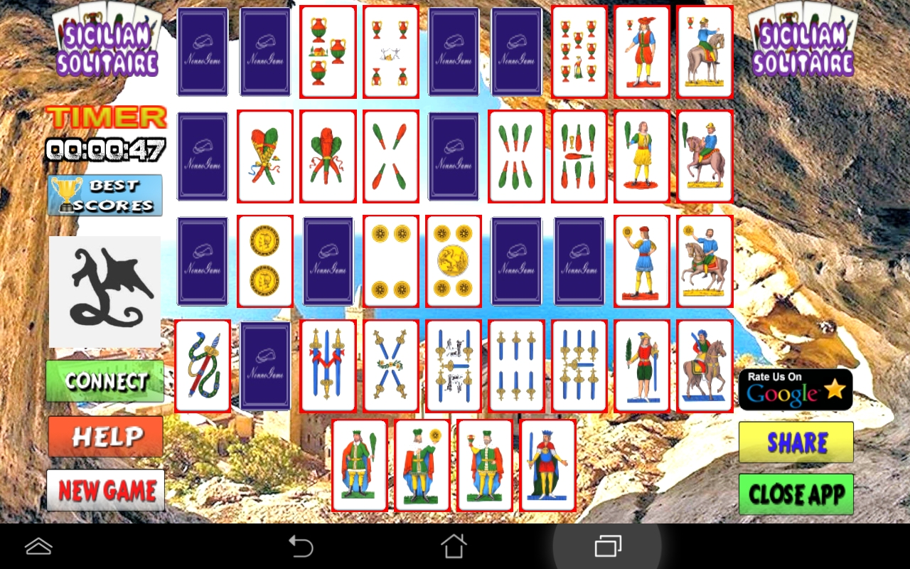 Sicilian Cards Solitaire
