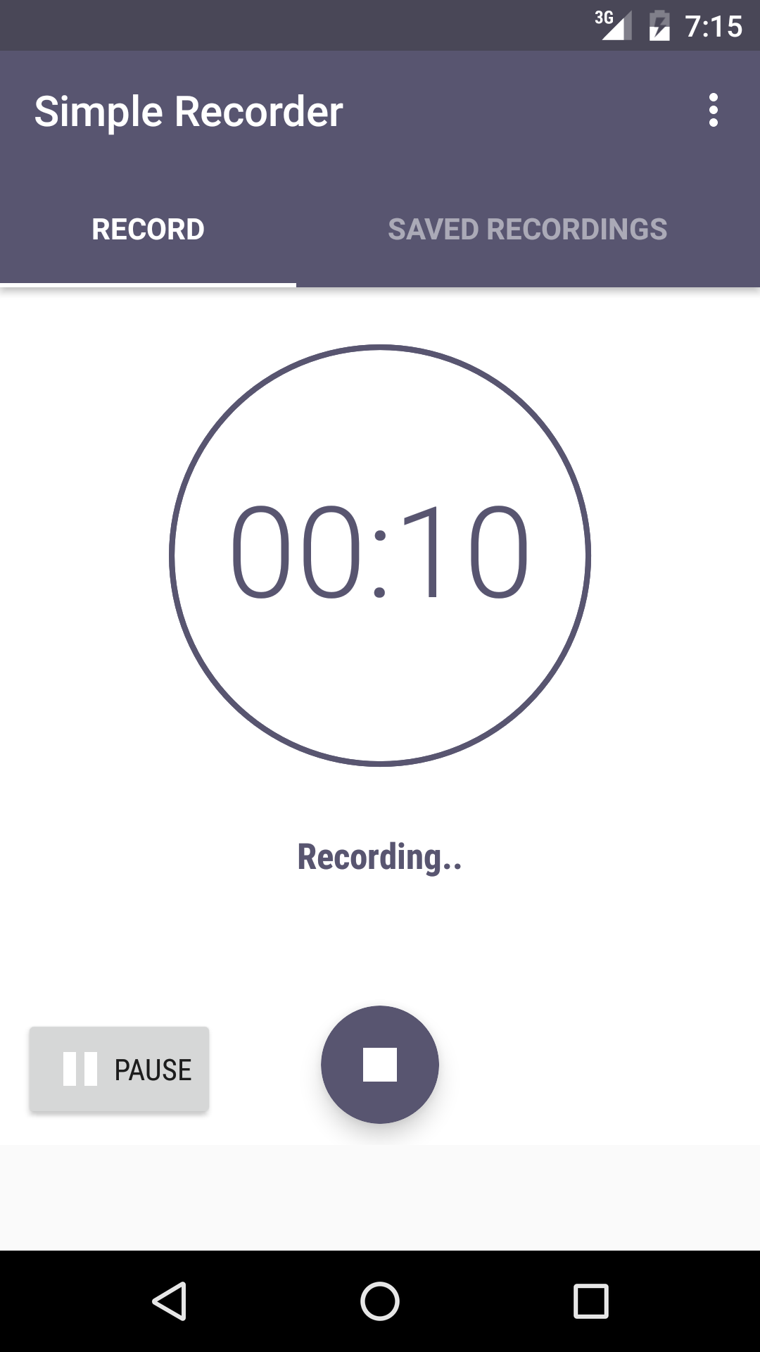 Simple Recorder