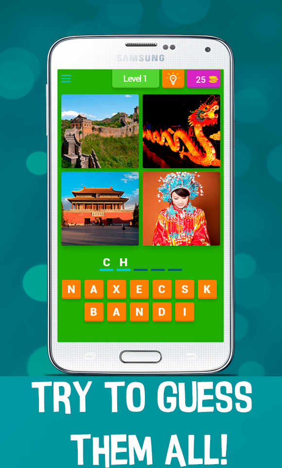 4 Pics 1 Word - Country Quiz
