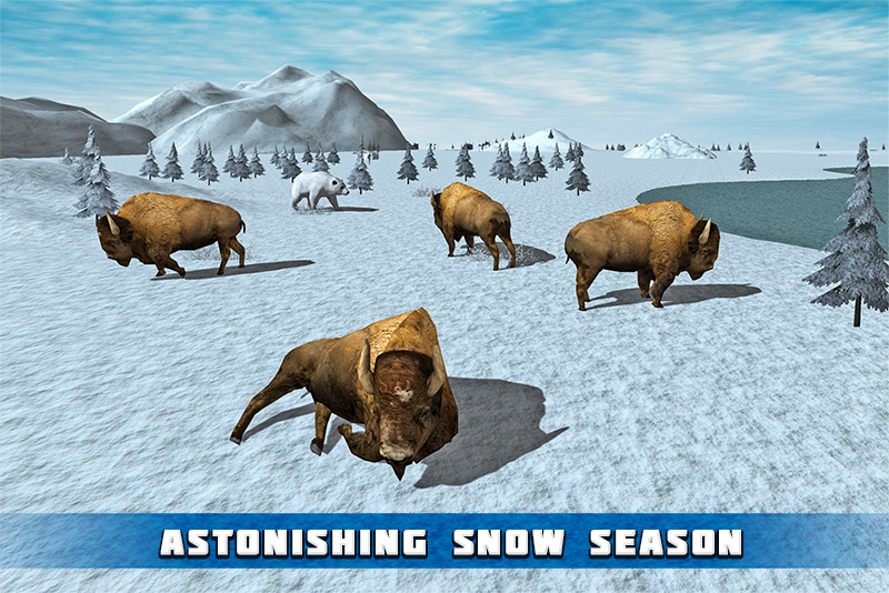 Angry Snow Bison Simulator 3D