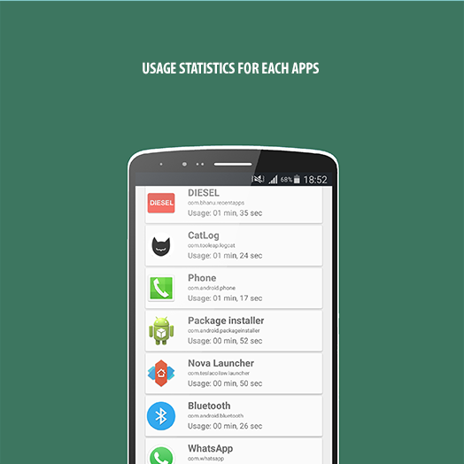DIESEL - The most used apps