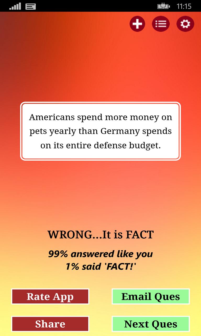 FACT or CRAP