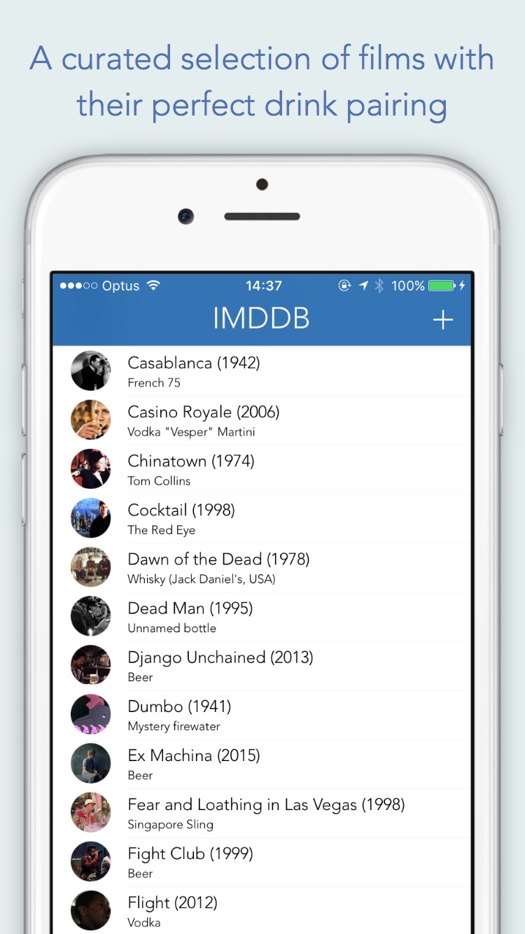 IMDDB - The internet movie drinks database