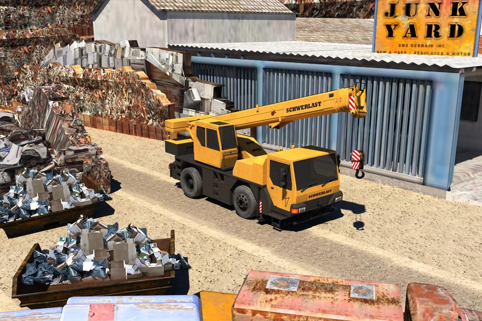Junk Yard Truck Driver Parking