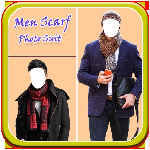 Men Scarf Photo Suit New