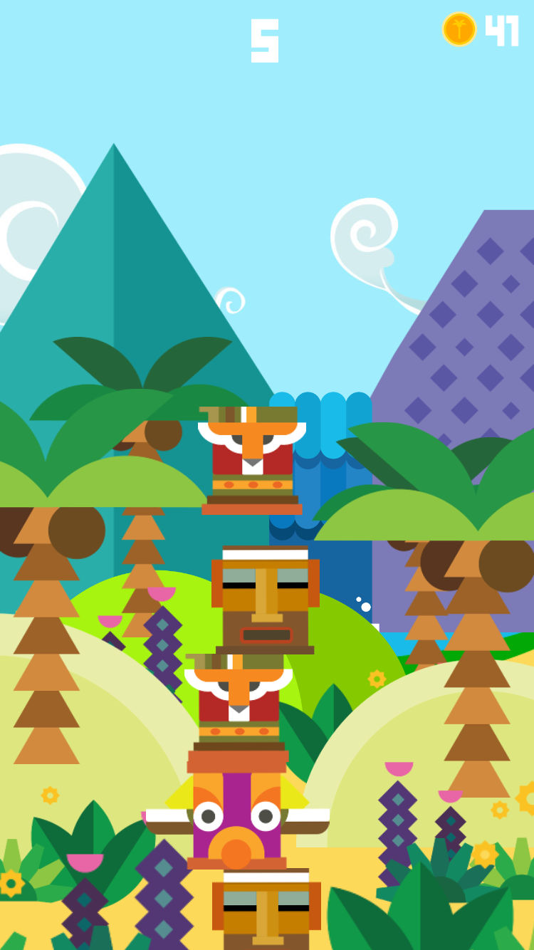 Shaky Totems - Jungle Tower Builder