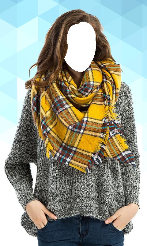 Women Scarf Photo Suit