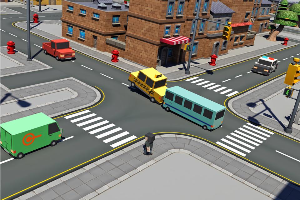 Blocky smashy four crossy road