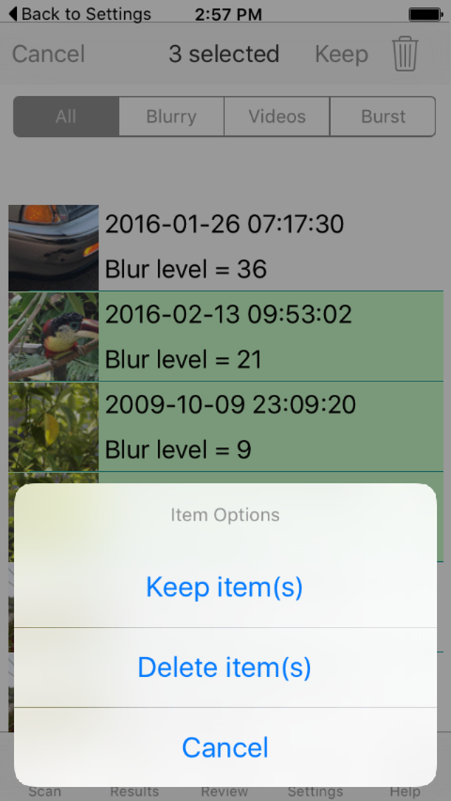 Blurry Photo Finder