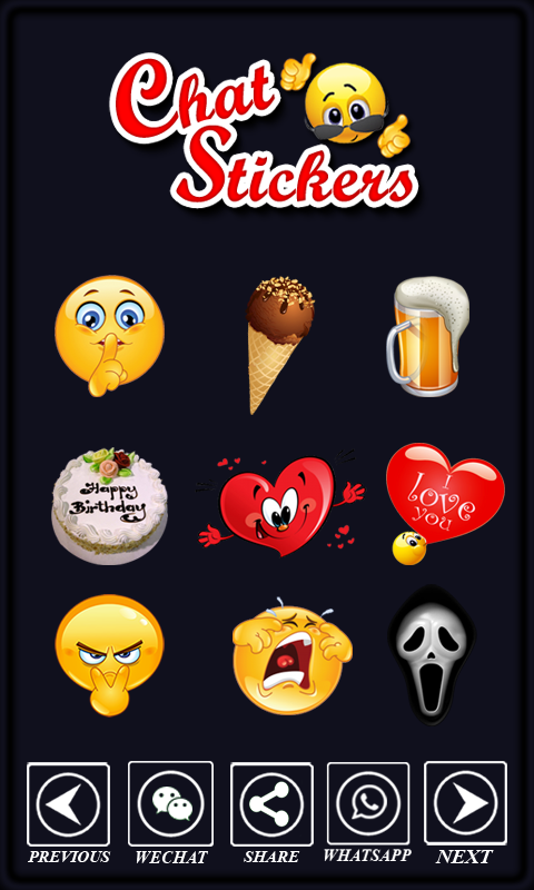 Chat Sticker Emoticons