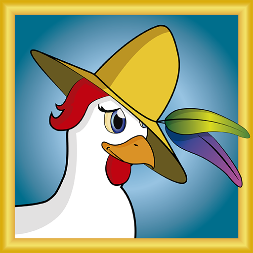 Chicken with hat