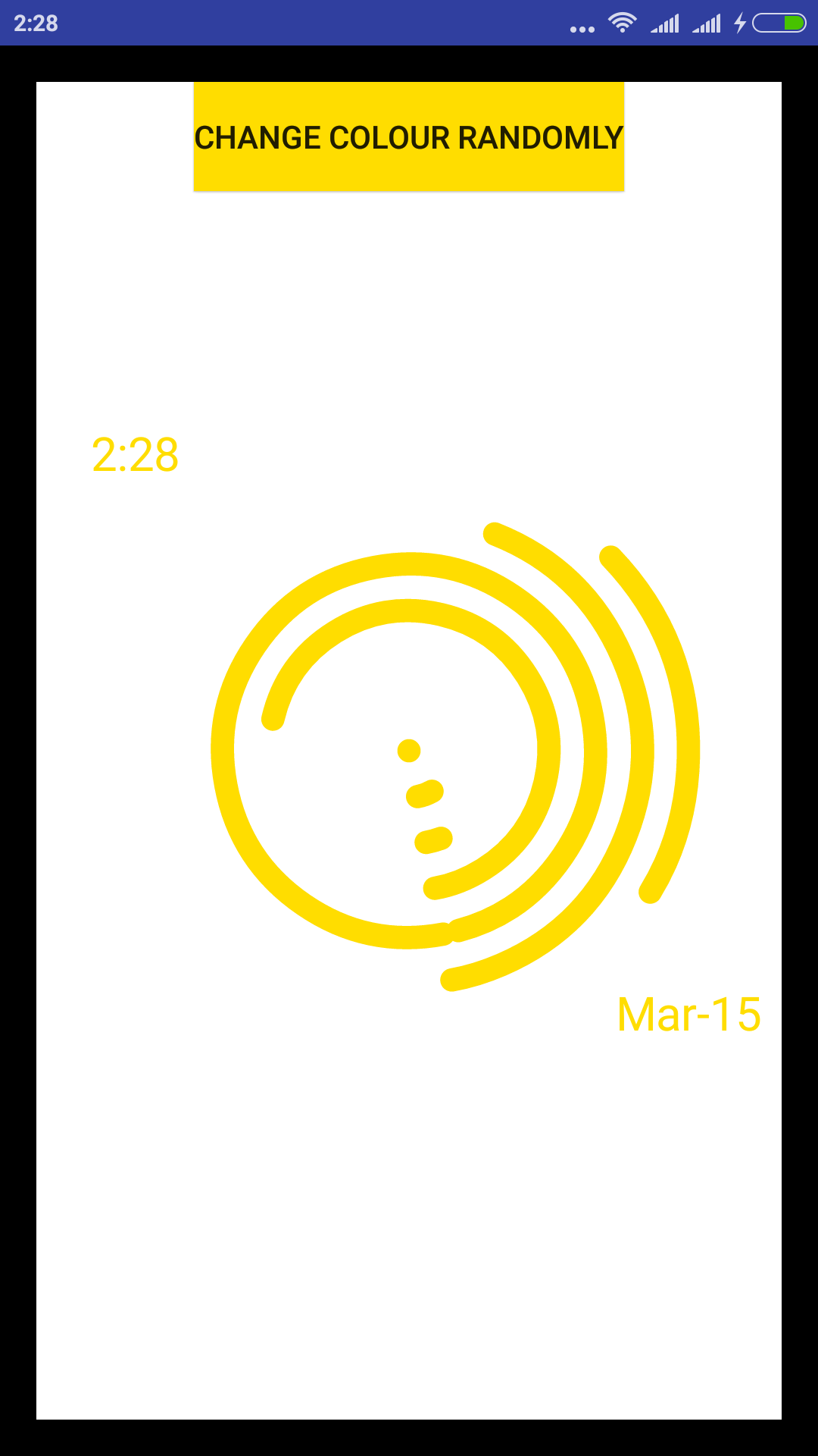 Arc Clock widget + app