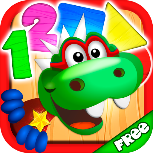 Dino Tim: Math learning,  numbers, shapes and colors