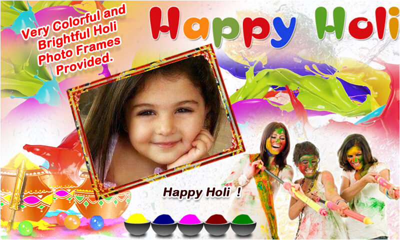 Holi Photo Frame New