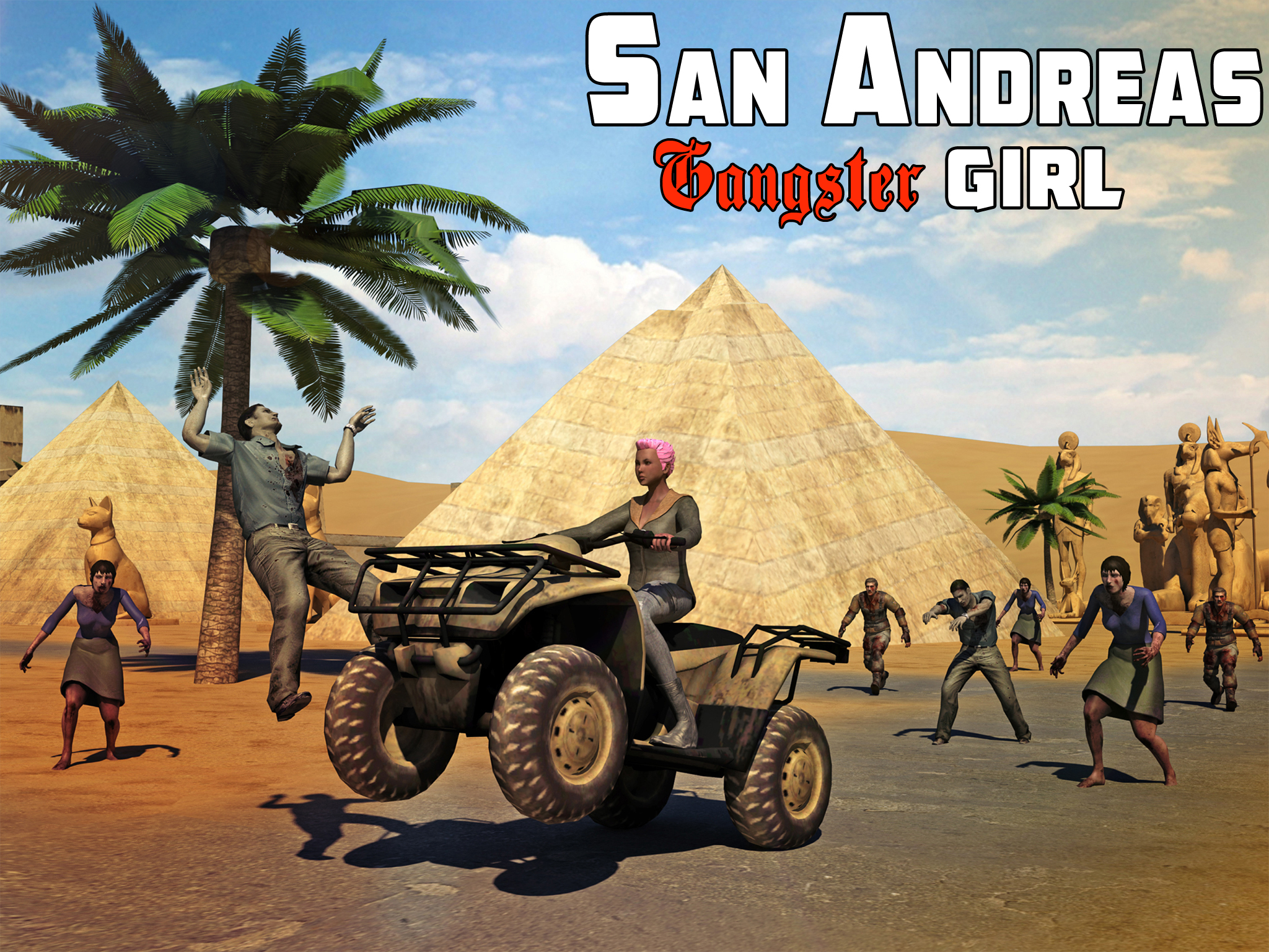 San Andreas Gangster Girl 3D
