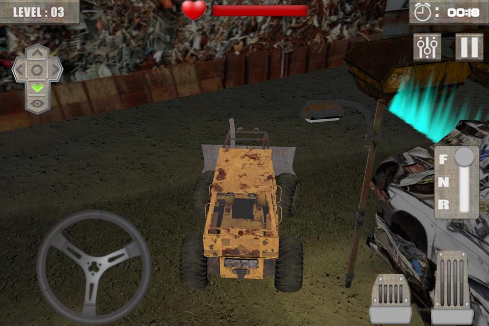 Scrap Heavy Excavator simulato
