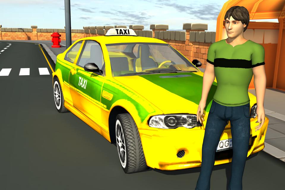 Taxi Car Driver Parking 3d