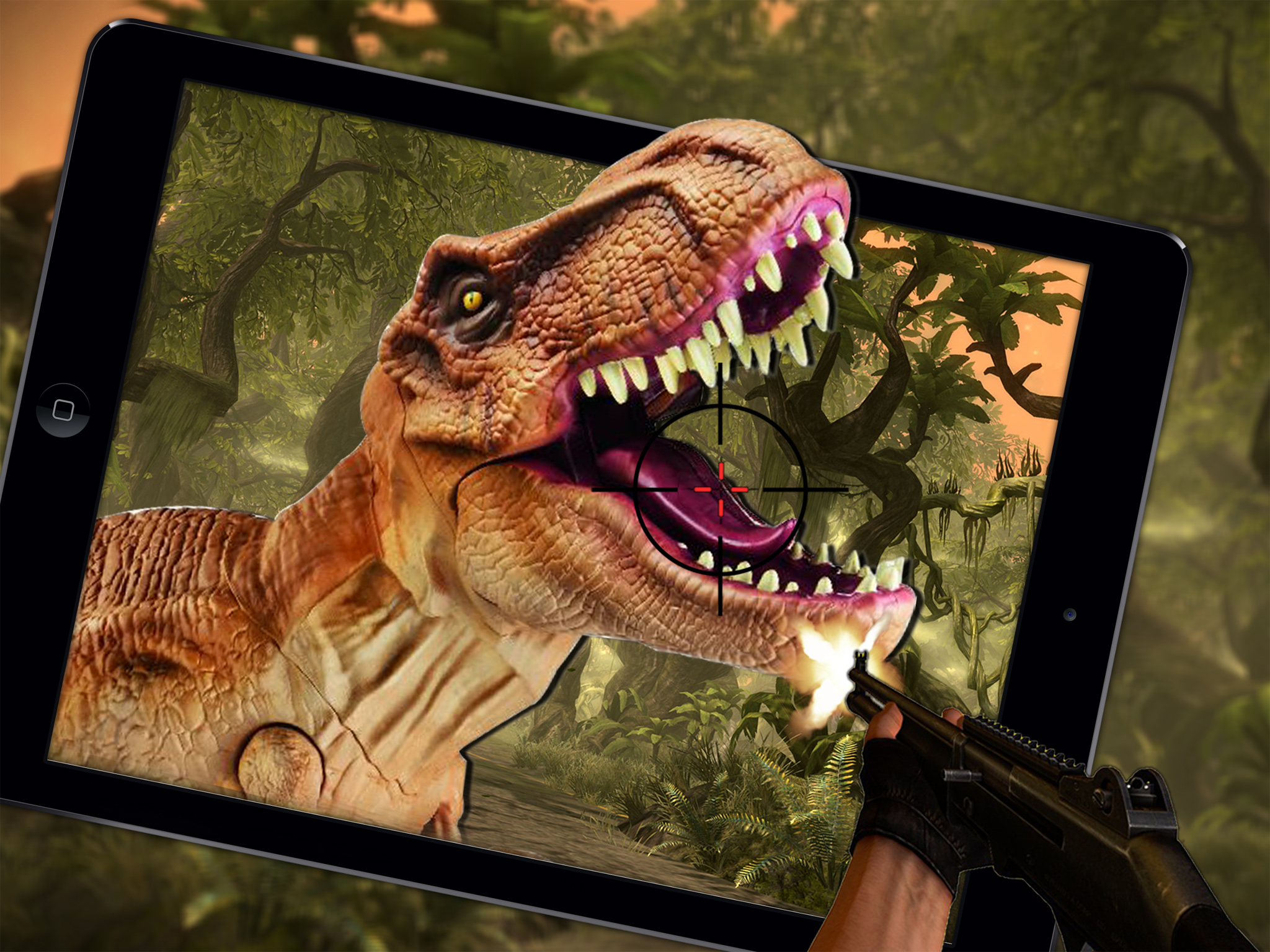 Wild Dino VS Deadly Hunter 3D