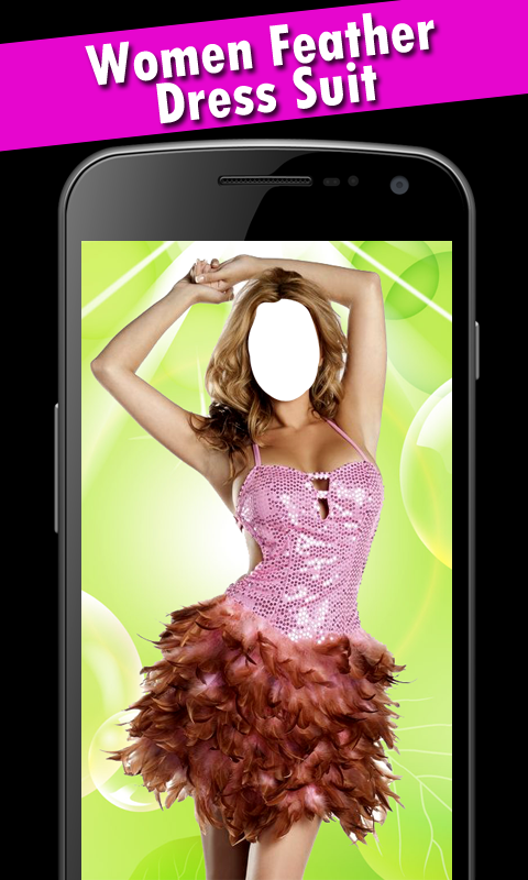 Women Feather Dress Suit