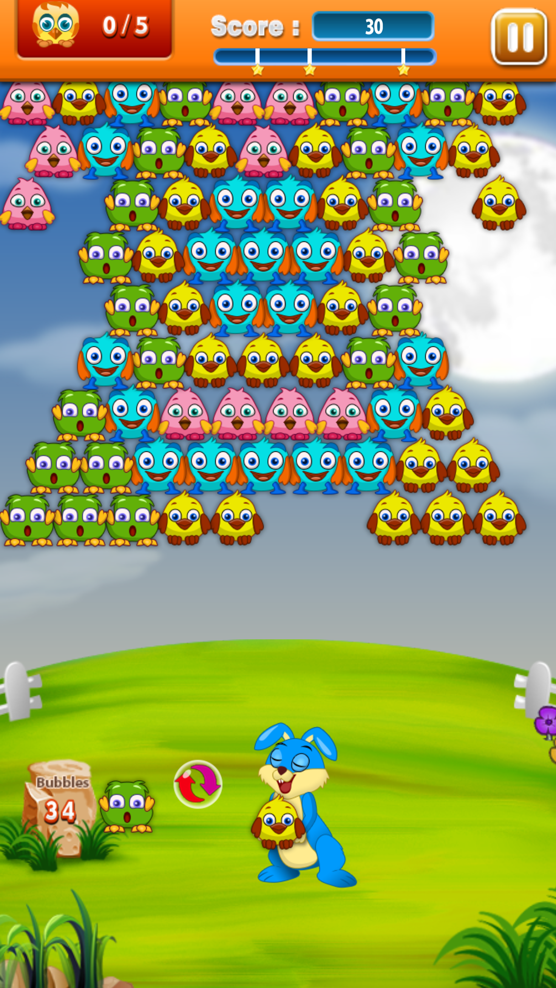 Wacky Birds Bubble Shooter
