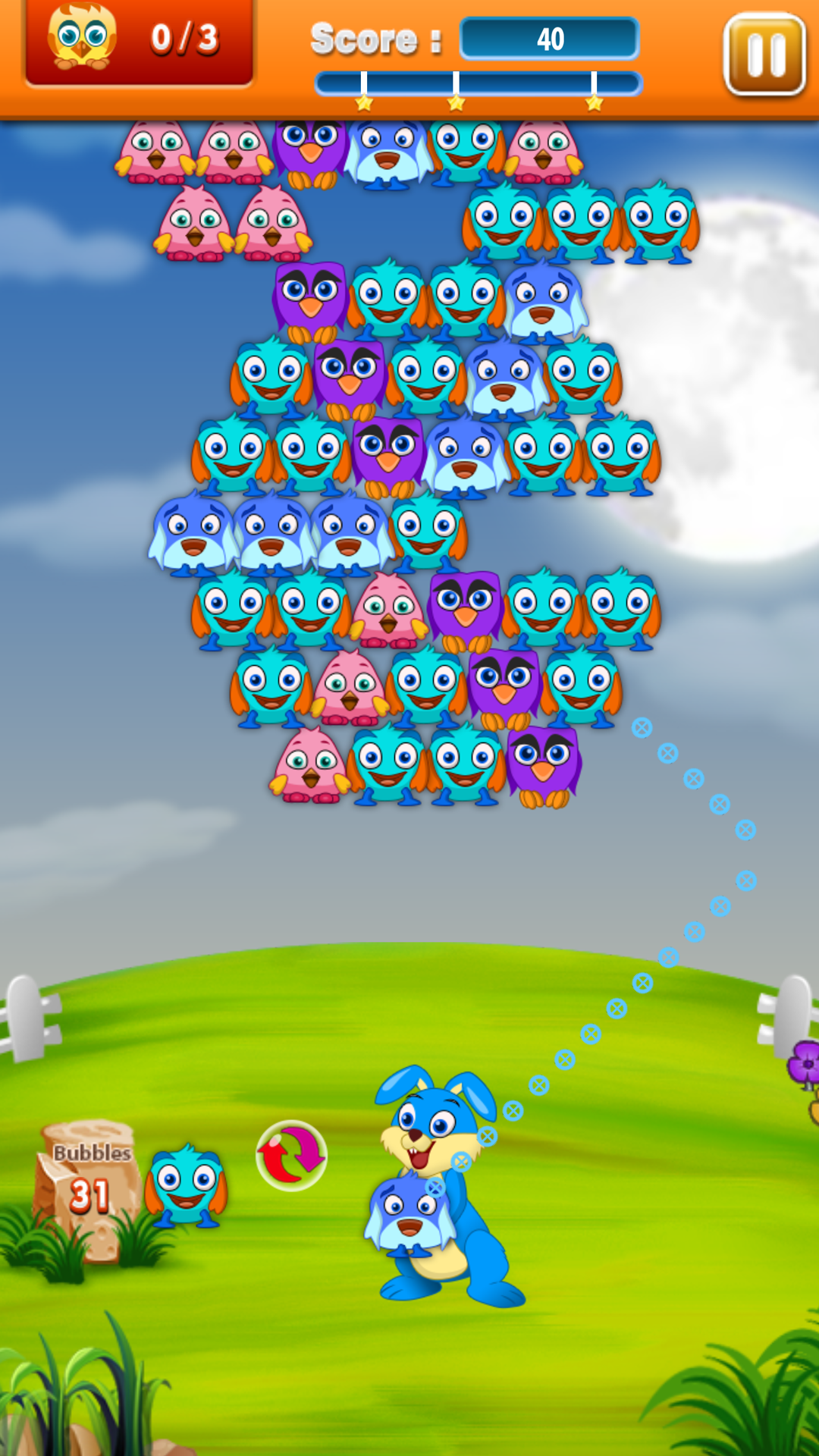 Wacky Birds Bubble Shooter