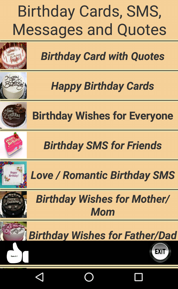 Happy Birthday Cards and Quotes