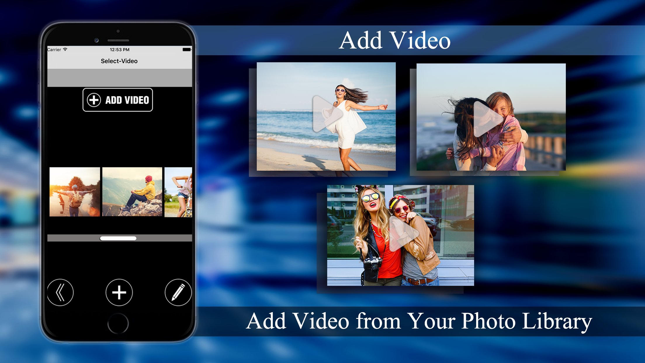 Merge Videos - Add Music and overlay effects to videos