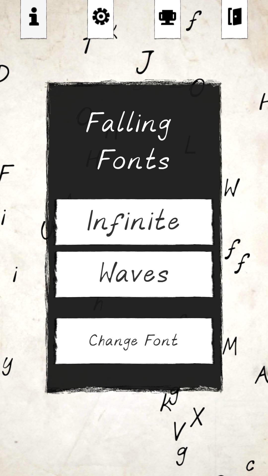 Falling Fonts