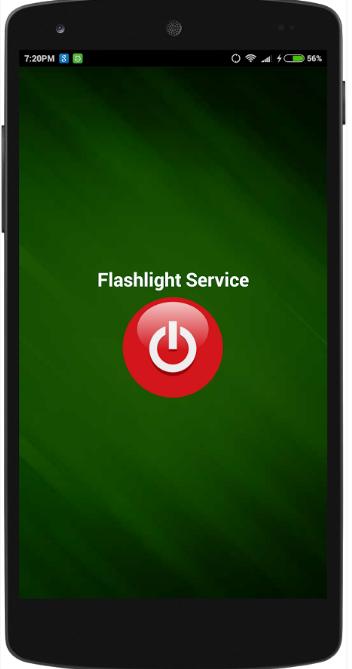 flash light on clap
