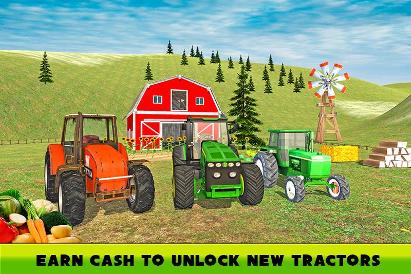 Hill Farm Truck Tractor 3D