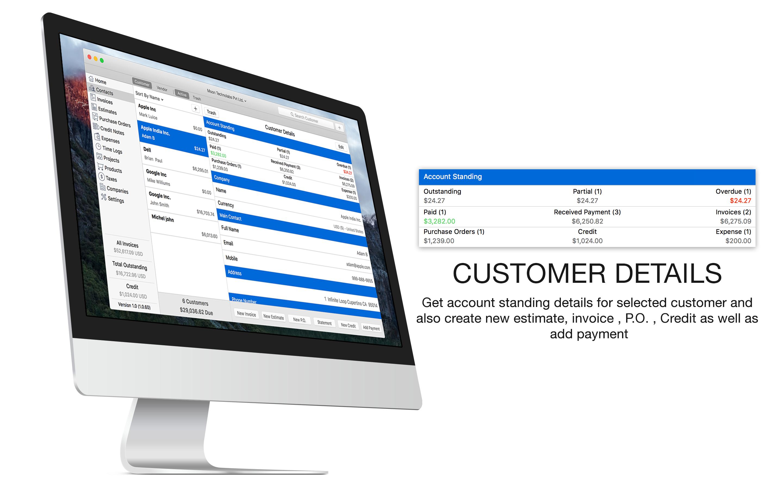 Invoice Creates Invoices Estimates Purchase Orders Customers - Moon invoice