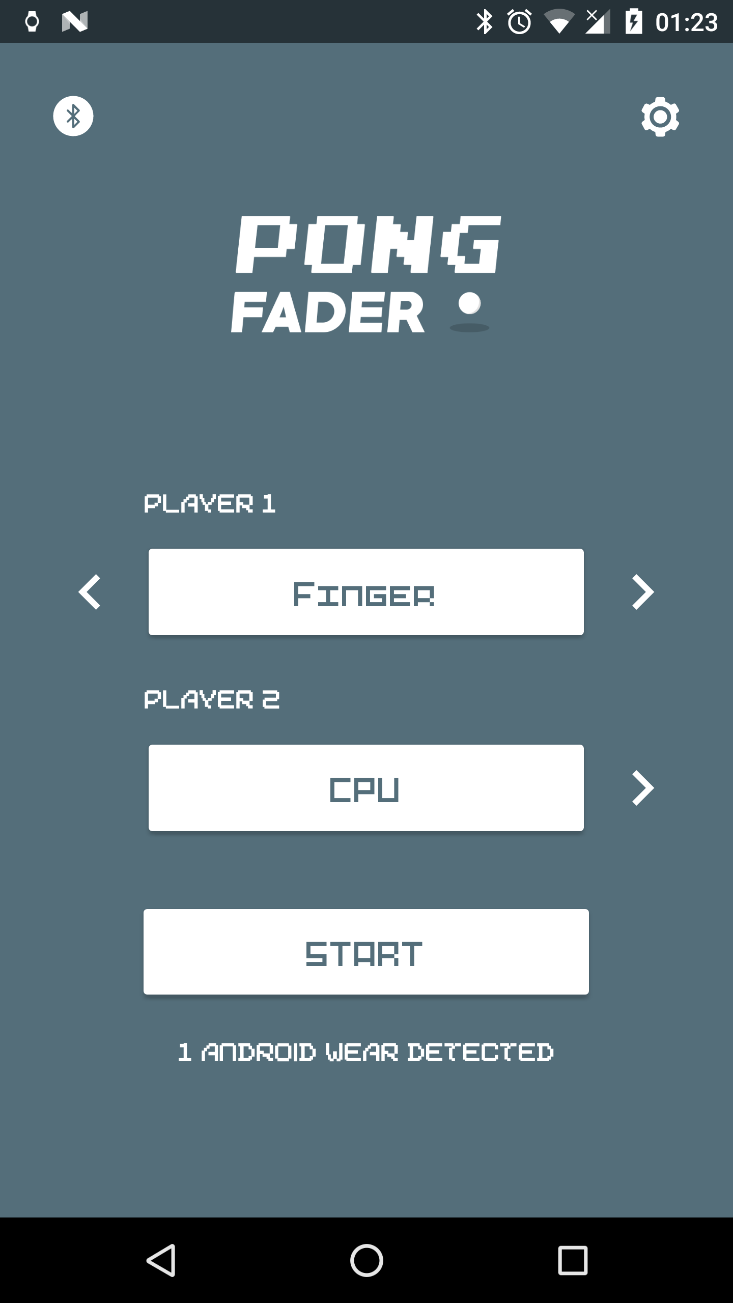 Pong Fader - 1 or 2 players