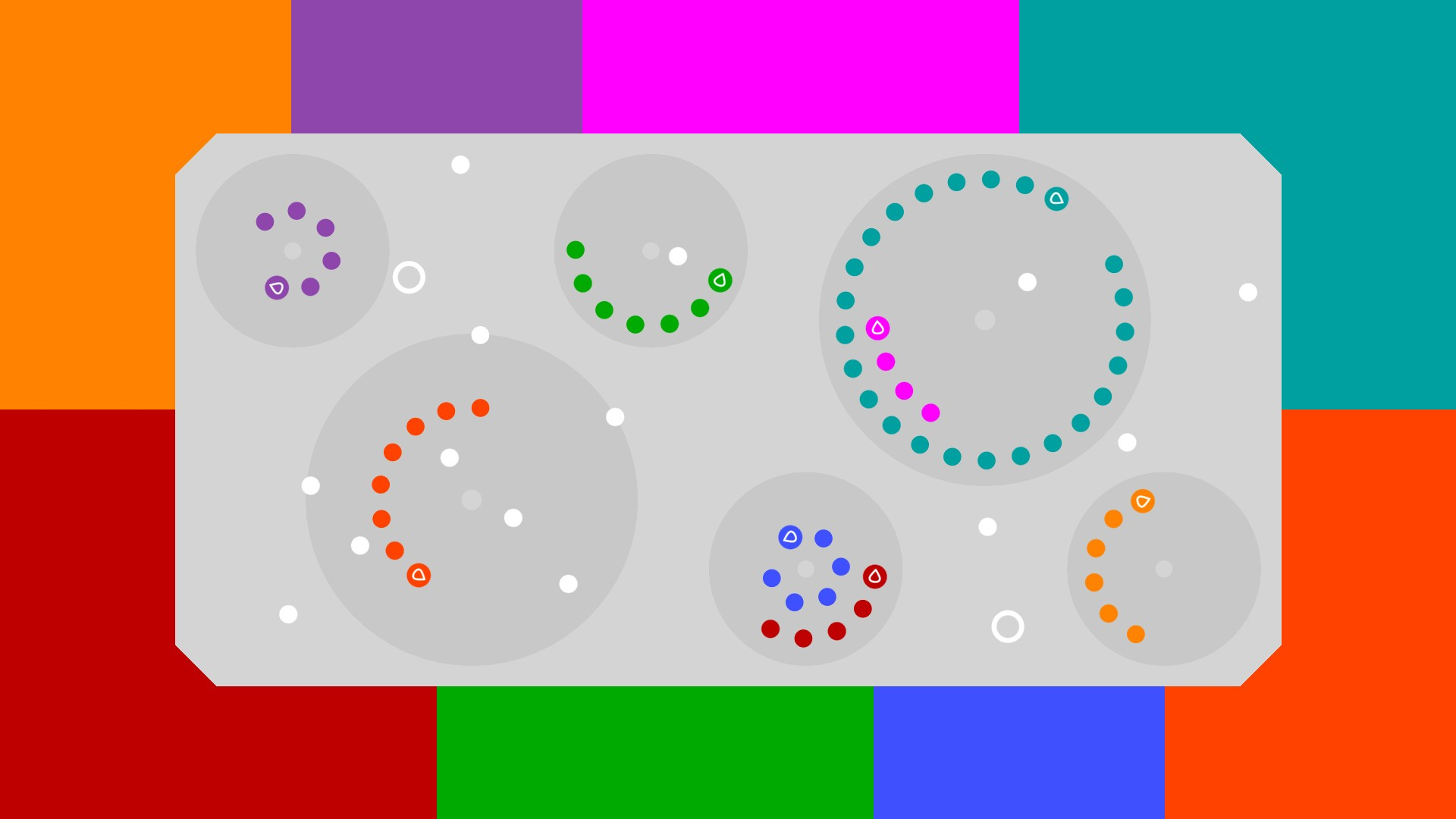 12 orbits • local multiplayer for 2, 3, 4, 5, 6... 12 players