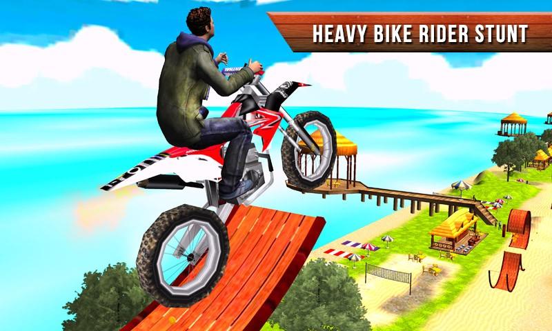 Beach Bike Crazy Stunt
