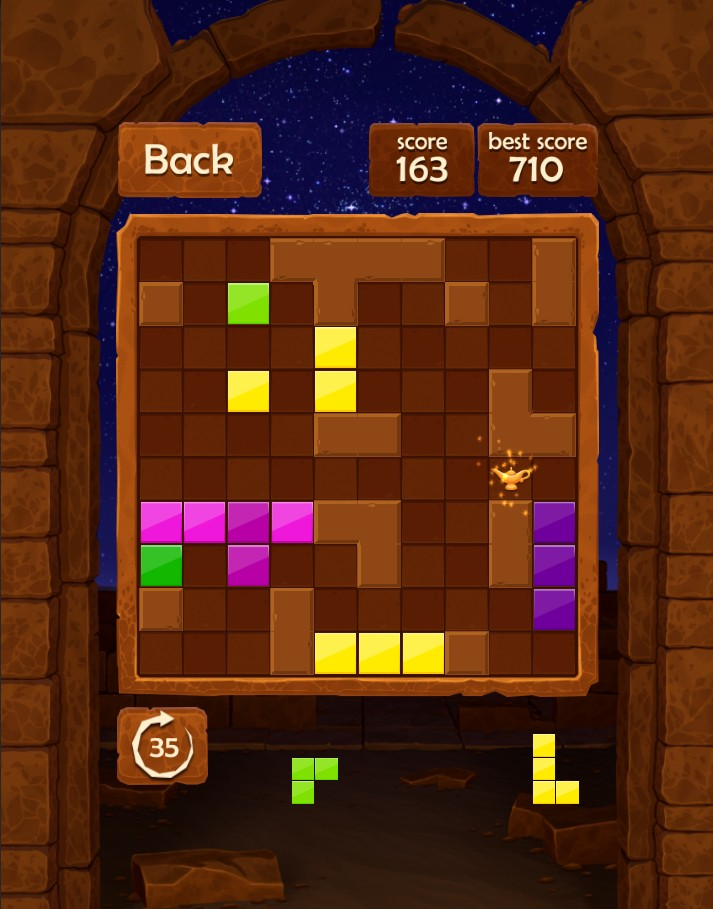 Block Puzzle : Night in Egypt