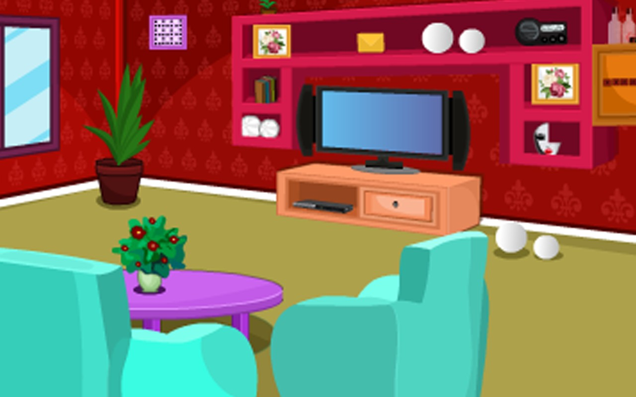 Escape Game-Red Living Room