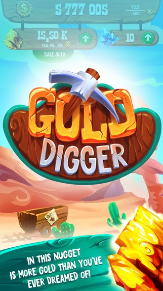 Gold Digger - the best clicker in the Wild West