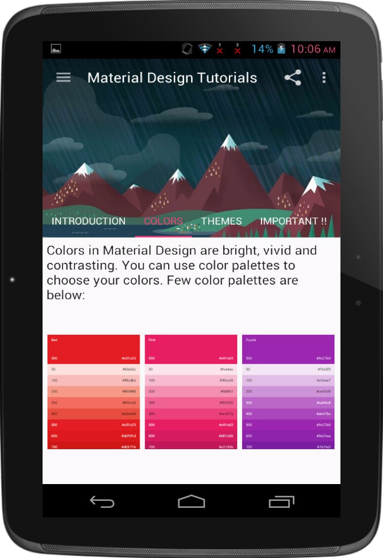 Material Design Tutorials