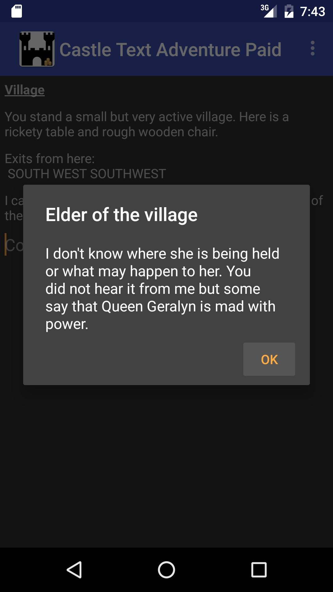 Mini Text Adventure